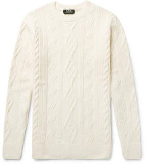 A.P.C. Jacques Yves Slim-Fit Cable-Knit Wool Sweater