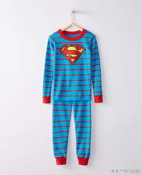 Hanna Andersson JUSTICE LEAGUE SUPERMAN Long John Pajamas In Organic Cotton