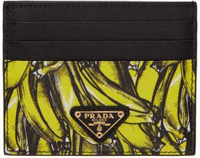 Prada Black Saffiano Banana Card Holder