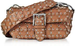 RED Valentino Genuine Leather Studded Shoulder Bag