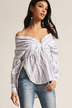 Forever 21 Stripe Corset Shirt
