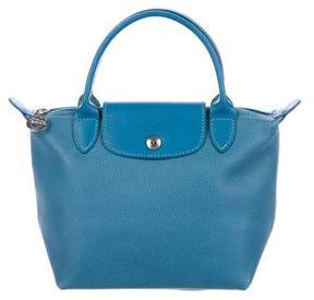 Longchamp Grained Leather Tote - BLUE - STYLE