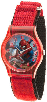 Marvel Spiderman Boys Red Strap Watch-Wma000225