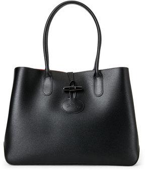 Longchamp Black Roseau Leather Tote - BLACK - STYLE