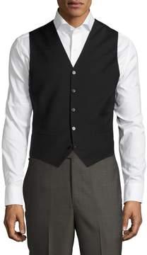 BLK DNM Men's Solid Buttoned Vest