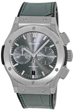 Hublot Classic Fusion 521.NX.7071.LR Titanium / Leather with Grey Sunray Dial 45mm Mens Watch
