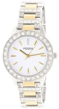 Fossil Women's ES2409 Jesse Stainless Steel Watch, 34mm