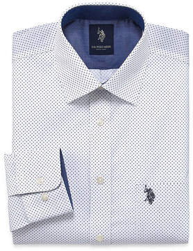 U.S. Polo Assn. USPA Long Sleeve Woven Pattern Dress Shirt - Slim
