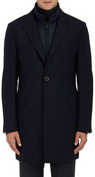 Fay Men's Houndstooth Wool-Cashmere Coat