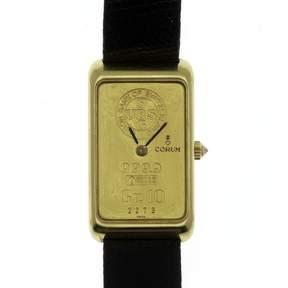 Corum 18K Yellow Gold & Leather Manual 21mm Mens Watch