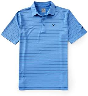 Callaway Short-Sleeve Core Ventilated Stripe Polo