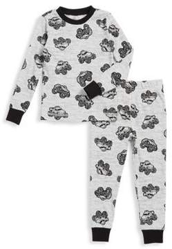 Petit Lem Little Boy's Fun Monster Truck Cotton-Blend Long-Sleeve Top and Pants Set