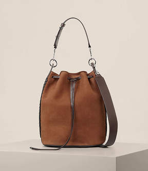 AllSaints Ray Nubuck Bucket Bag