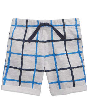 First Impressions Windowpane-Print Shorts, Baby Boys (0-24 months), Created for Macy's