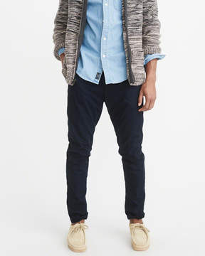 Abercrombie & Fitch Athletic Slim Flannel Lined Chinos