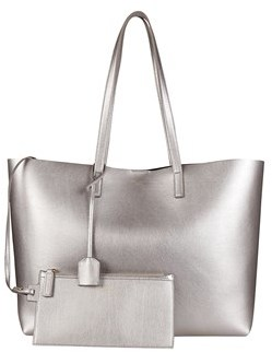 Saint Laurent Women's Silver Leather Tote. - SILVER - STYLE
