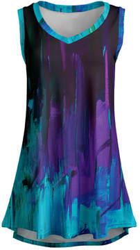 Lily Purple & Aqua Abstract Sleeveless Tunic - Women & Plus