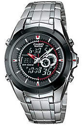 Casio Men's Twin Chronograph Watch with Thermometer