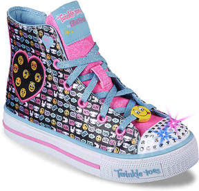 Skechers Twinkle Toes Shuffles Giggle Up Toddler & Youth Light-Up High-Top - Girl's