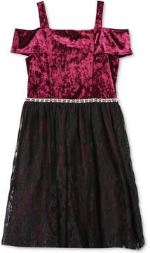 Speechless Velvet & Lace Dress, Big Girls (7-16)