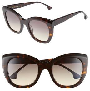 Alice + Olivia Women's Mercer 52Mm Cat Eye Sunglasses - Dark Tortoise