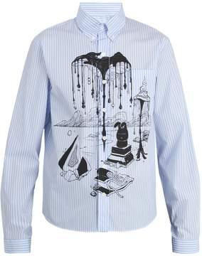 Prada Graphic-print striped cotton shirt