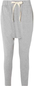 Bassike Cropped Organic Cotton-jersey Track Pants - Gray