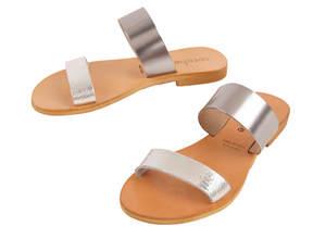 Cocobelle Double Strap Leather Slide Sandals