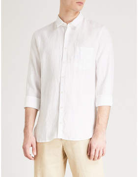 BOSS ORANGE Regular-fit linen shirt