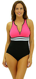 Fit 4 U Fit 4 Ur Long Torso Hi Neck Tank with Zipper
