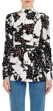 Valentino Women's Floral-Butterfly Silk Blouse