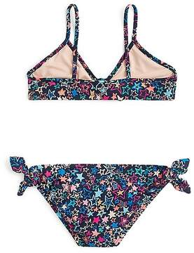 J.Crew Girls' side-tie bikini set in stars