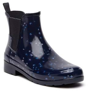 Hunter Refined Waterproof Constellation Print Chelsea Boot