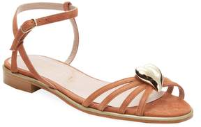 Aperlaï Women's Heart Leather Open-Toe Sandal