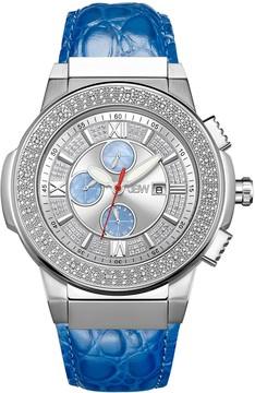JBW Saxon Crystal Silver Dial Men's Watch