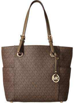 MICHAEL Michael Kors Jet Set Item East/West Signature Tote Tote Handbags - BROWN - STYLE