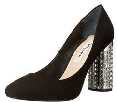 Nina Womens Idabell Satin Pointed Toe Classic Pumps.