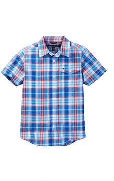 Tommy Hilfiger Bryce Short Sleeve Slub Shirt (Big Boys)