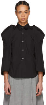 Comme des Garcons Black Sculptural Sleeve Shirt