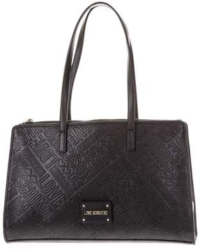 Love Moschino Black Faux Leather Handbag