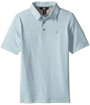 Volcom Wowzer Polo Top Boy's Short Sleeve Pullover