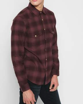 7 For All Mankind Long Sleeve Western Shirt in Port