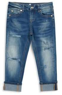 7 For All Mankind Little Girl's Josefina Cropped Boyfriend Jeans