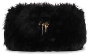 Giuseppe Zanotti Black faux fur clutch
