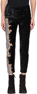 Haider Ackermann Leather And Velvet Pants