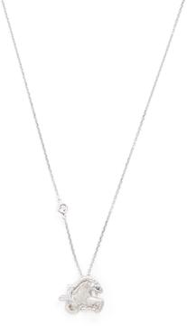 Elizabeth Showers Women's Silver & White Sapphire Capricorn Zodiac Necklace