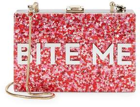 Milly Women's Glitter Bite Me Convertible Clutch
