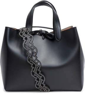 Alaia Black studded strap tote bag