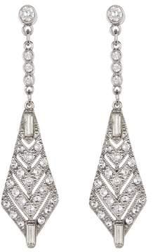 Ben-Amun Crystal Deco Chandelier Earrings