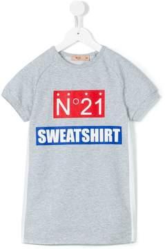 No.21 Kids logo print T-shirt dress